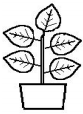 drawing of plant in pot